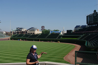 Our Tour Guide - amazing info about Wrigley Field
