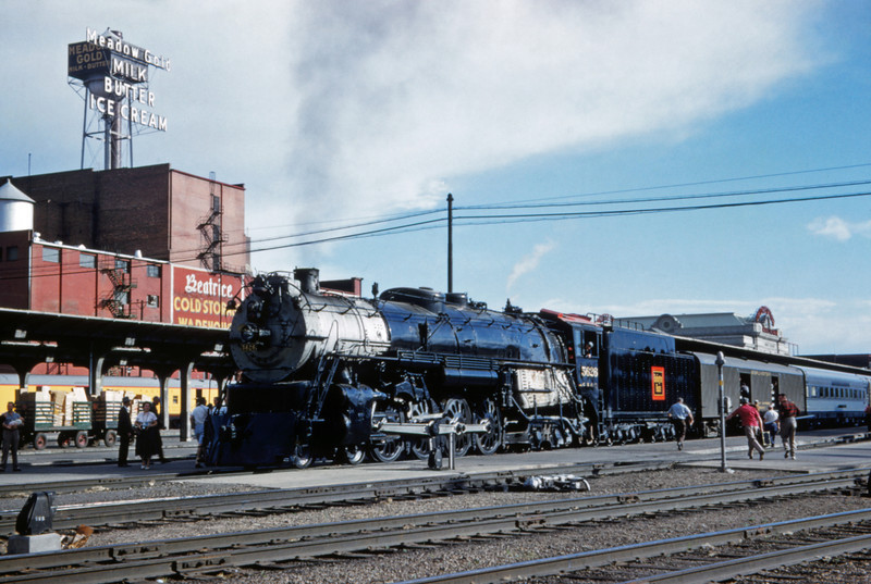 CB&Q 91 - Jun 10 1959 - No 5626 4-8-4 leaving for Chicago @ Denver COLO
