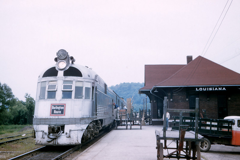 CB&O 72 - June 4 1957 - Eng 9908 'The Silver Charger' on No  43 Louisinanna MO