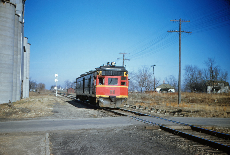 CB@Q 12 - Dec 30 1955 - Dielsel-Electric motorcar 9841 at Shattue ILL