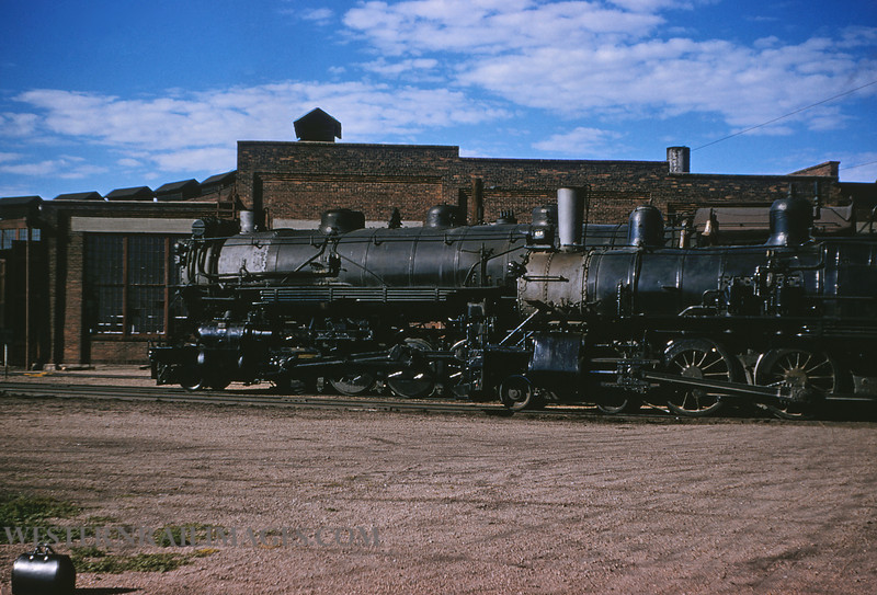 CB&Q 45 - July 21 1956 - Loco 903 C&S & 919 cb&q @ Cheyenne WY - by JIm Ozment