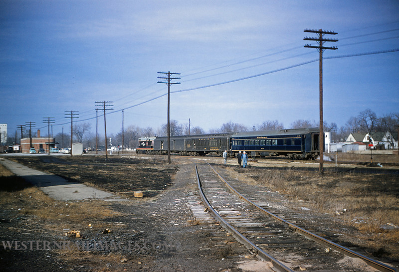 CB&Q 7 - Dec 29 1955 - Train 47 @ Beardstown ILL - by Jim Ozment