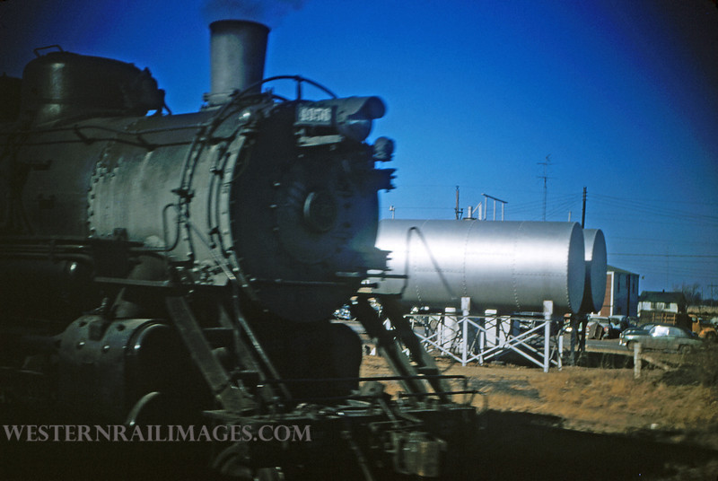 CB&Q 16 - Dec 30 1955 - loco 4956 2-8-2 @ West Frankfort ILL - by Jim Ozment