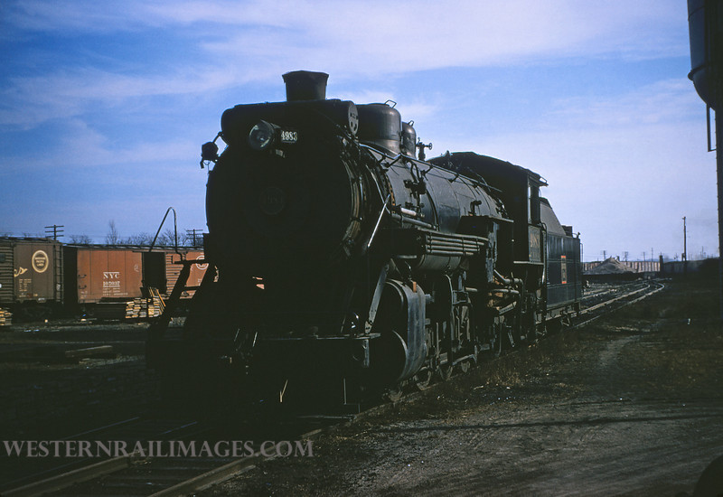 CB&Q 8 - Dec 29 1955 - No 4983 2-8-2 @ Beardstown ILL - by Jim Ozment