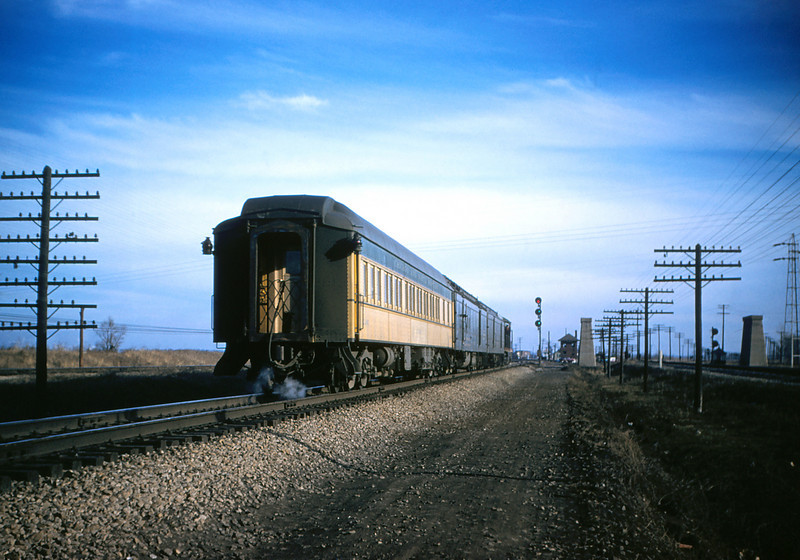 CB@Q 28 - Jan 3 1956 - C&NW pullman car 'Huron' on Burlington no