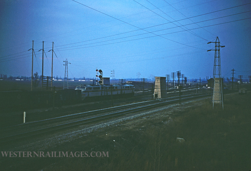 CB&Q 5 - Dec 8 1955 - Freight northbound @ Mitchell ILL by Jim Ozment