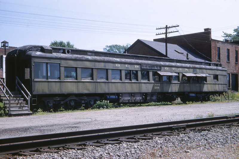 CB@Q RR 84 - Jun 4 1958 - Parlor Car at Bevier Station MO