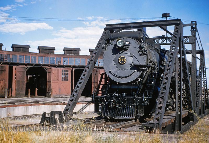 CB&Q 44 - July 21 1956 - C&S Loco 903 @ Cheyenne WYO - by Jim Ozment