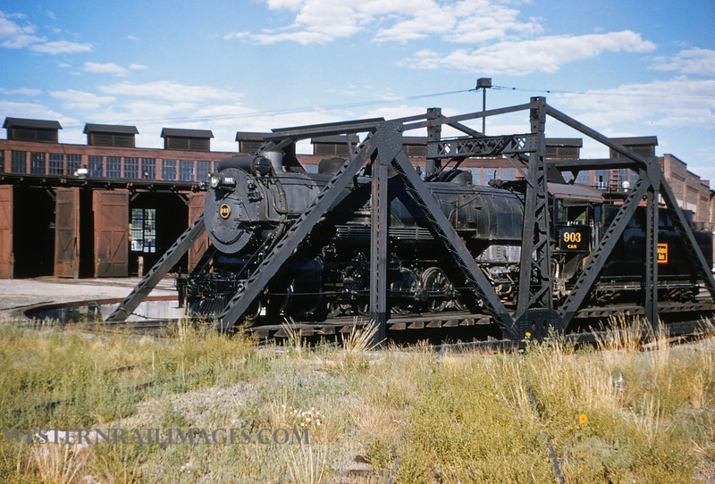 CB&Q 43 - July 21 1956 - C&S loco 903 @ Cheyenne WY - by Jim Ozment