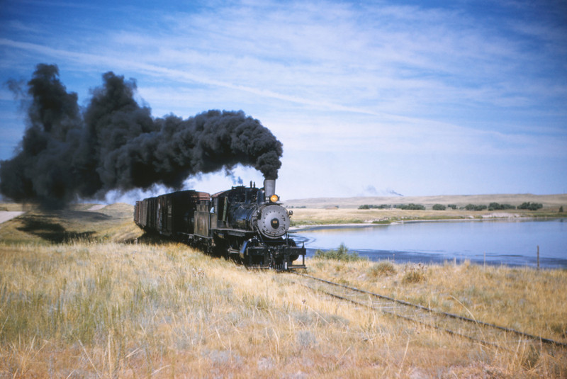 CB&Q 54 - Jul 21 1956 - no 919 4-6-0 on Cheyenne - Sterling WYO