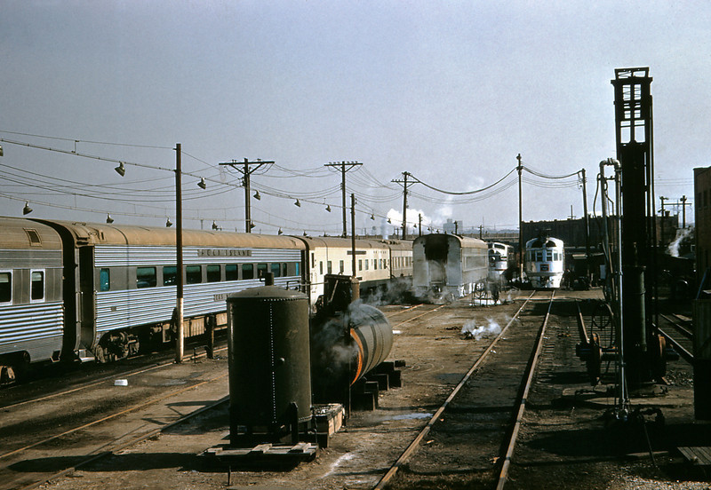 CB@Q 70 - Feb 20 1957 - Rankin Street coach yards & Engine Terminal  St Louis MO
