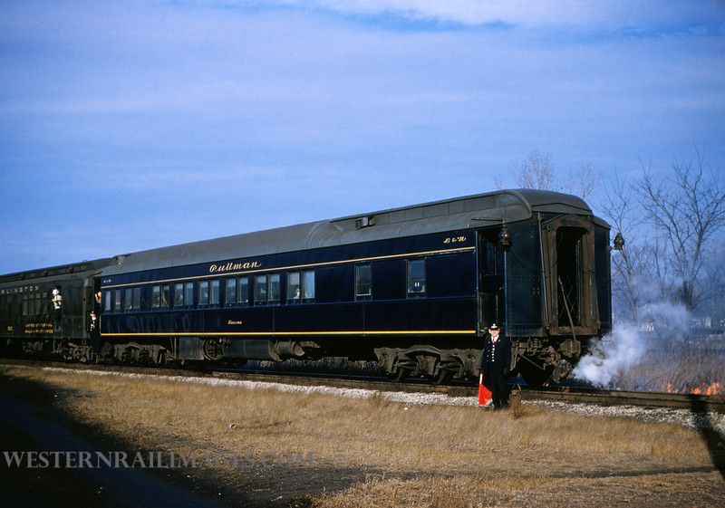 CB&Q 6 - Dec 29 1955 - L&N Pullman Car Tacoma on train 47 @ Beardstown ILL - by Jim Ozment