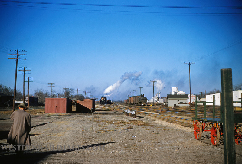 CB&Q 20 - Dec 30 1955 - yard looking north @ Centralia ILL - by Jim Ozment