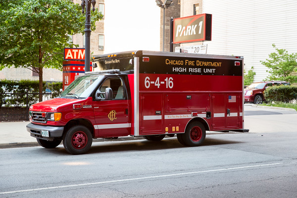 Hi Rise Drill 425 S Wabash and Engine 62 Truck 27