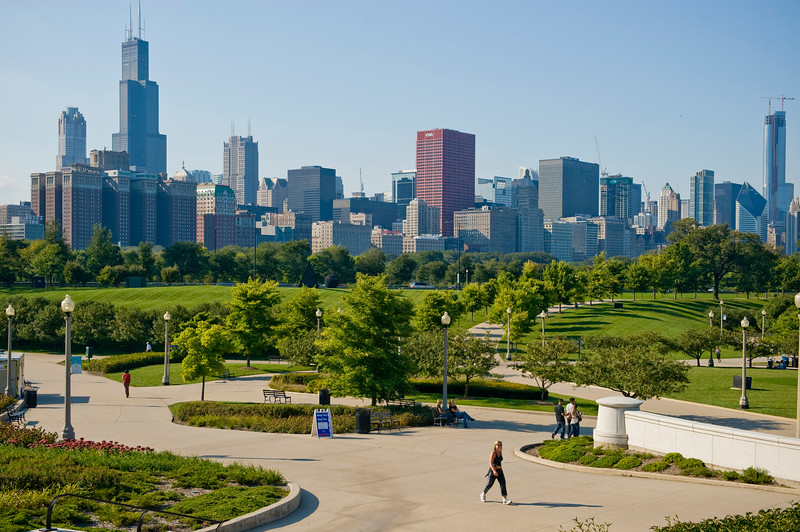 View of Chicago from the Museum Campus.