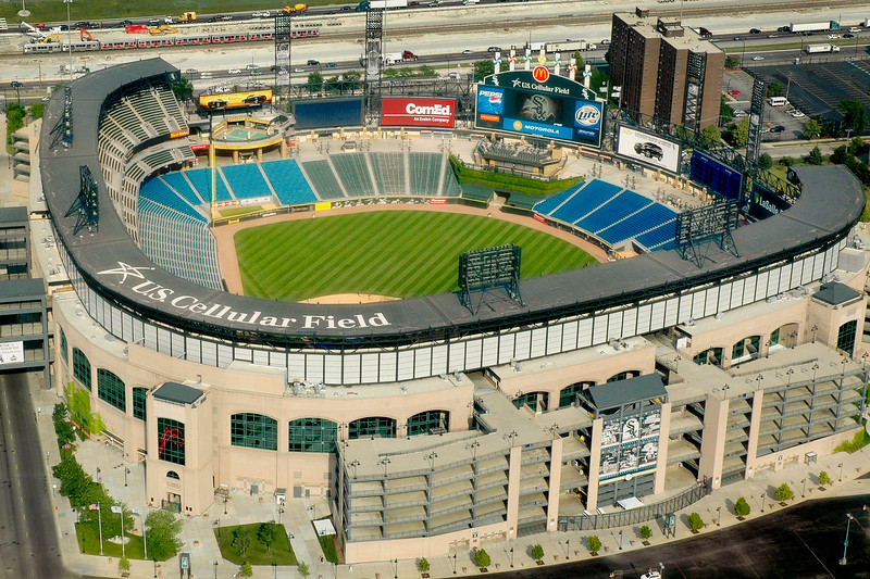Aerial view of the Cellular One Park, home of the 2005 World Series Champions, the Chicago White Sox
