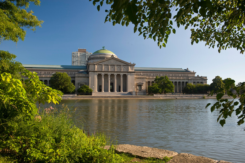 Museum of Science and Industry is situated in Jackson Park in the Hyde Park nieghborhood