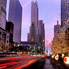 "Known as the ""Magificent Mile"" Michigan Avenue shopping by night"