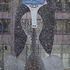 Picasso in Daley Plaza with Bears cap