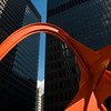 The Flamingo sculpture by Alexander Calder in Federal Plaza