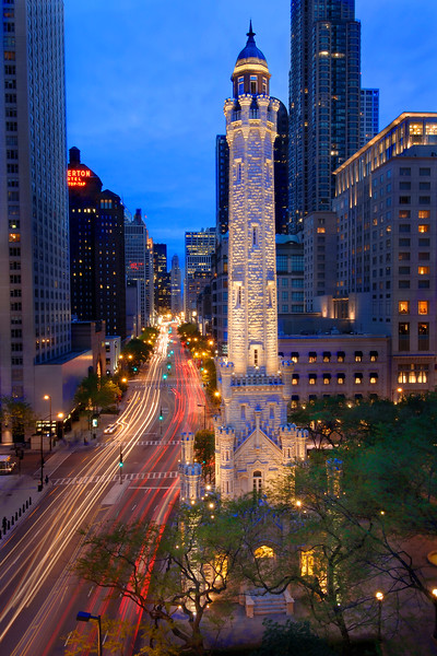 Chicago Water Tower on Michigan Avenue
