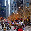 Michigan Avenue shoppers during the holiday season