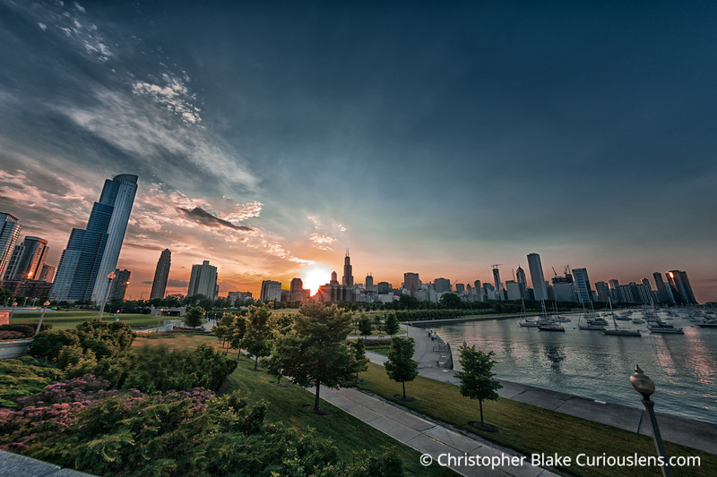 Fisheys Sunset - Chicago
