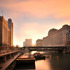 Cloud Movement over Chicago River, Chicago