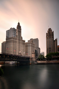 Long Expousre of Wrigley Building, Chicago