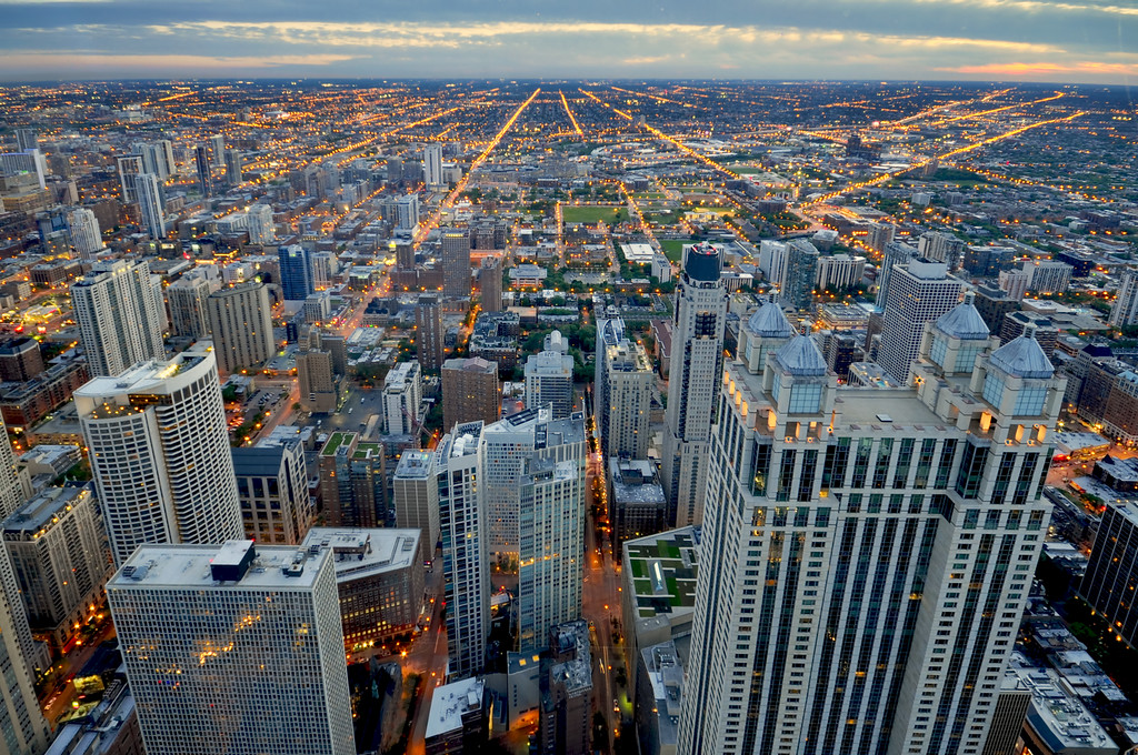 City of Chicago viewed from John Hancock observatory