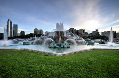 Buckingham Fountain in Downtown Chicago, Illinois