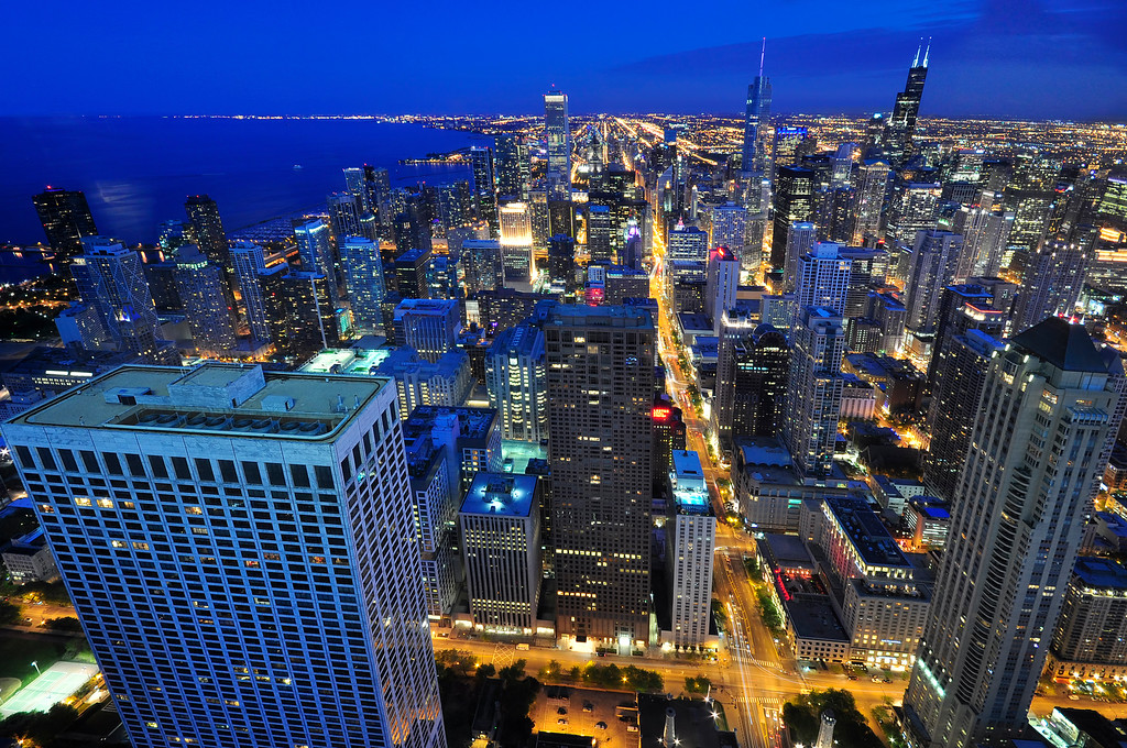 Chicago at blue hour, Chicago, Illinois