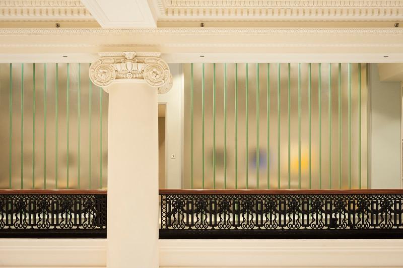Interior architecture details at BMO Harris Bank on LaSalle Street