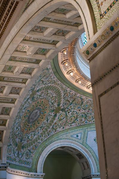 ornament details architecture Chicago Cultural Center mosaic