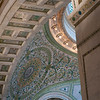 ornament details architecture Chicago Cultural Center mosaic