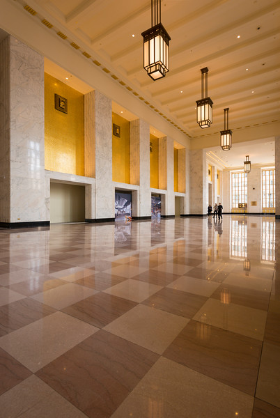 Interior of Old Chicago Main Post Office landmark art deco architecture