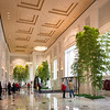 Interior lobby of 77 West Wacker Drive architecture post-modernism Ricardo Bofil