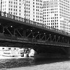 michigan avenue bridge chicago river black white
