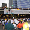First overpass, 400 meters into the race. You inspire us.