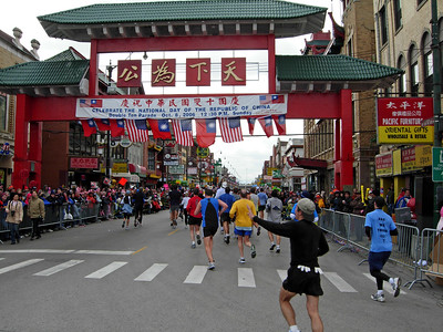 Chinatown, nearing mile 22. Quite a sight, something to look forward to each year.