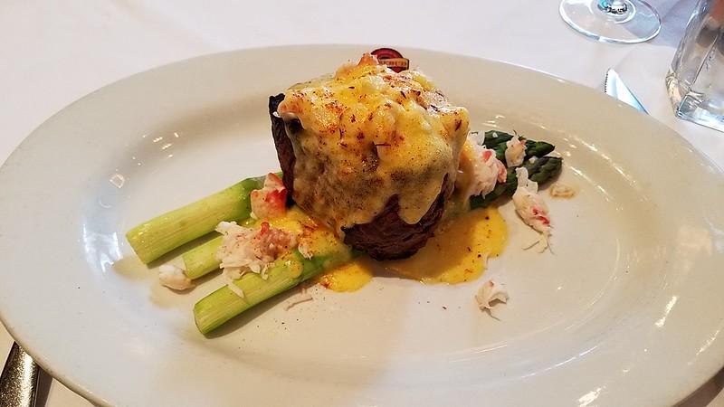Rosebud Prime restaurant. Filet Oscar, the best i've ever had