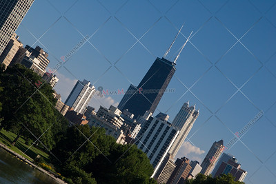 Chicago's John Hancock Tower as seen from Lincoln Park