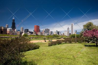 Chicago Skyline, including Grant park