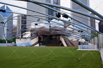 Chicago Illinois city view from Millenium park