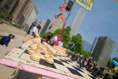 Outdoor Chess Game in Chicago