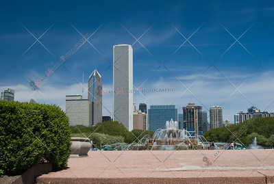 Chicago Skyline including Grant park