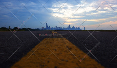Chicago skyline From bike path