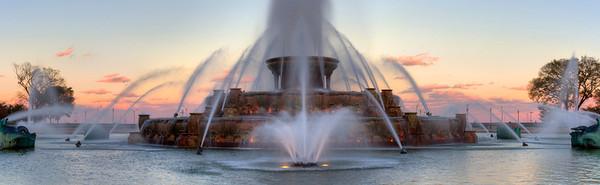 Buckingham Fountain Dusk