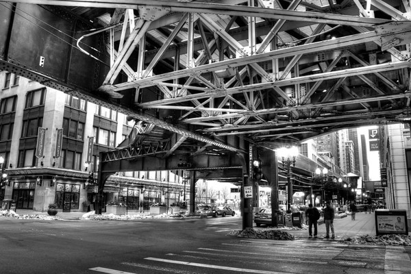 Under the tracks in chicago