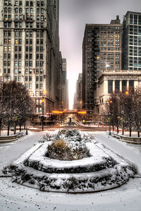Downtown in Winter from Millennium Park